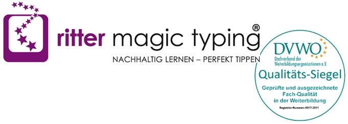 ritter magic typing - Logo mit DVWO-Qualtitätssiegel